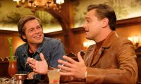ONCE UPON A TIME IN HOLLYWOOD Brad Pitt (L) and Leonardo DiCaprio credit: Andrew Cooper/Sony Pictures